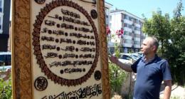 El işçiliğiyle yaptığı Hilye-i Şerif'e gelen 300 bin TL'lik teklifi reddetti, Ayasofya Camii'ne hediye etmek istiyor