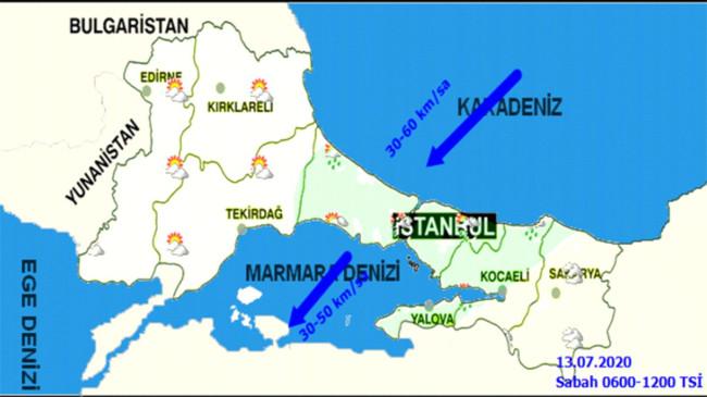 Marmara ve Doğu Karadeniz'de sağanak yağış etkili olacak
