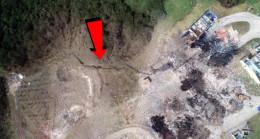 Sakarya'daki fabrika patlamasının ardından fay hattını andıran yarık oluştu