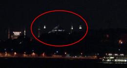 Şerefelerle aydınlatılan Ayasofya Camii, Üsküdar'dan böyle görüntülendi