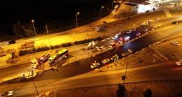 Son dakika: Bursa'da otoyolda yolcu otobüsü devrildi: 1 ölü, 16 yaralı
