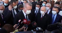 Son Dakika: Cumhurbaşkanı Erdoğan: Ayasofya Camii'nde bugün 350 bin kişi namaz kıldı