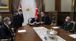 Son Dakika: Cumhurbaşkanı Erdoğan, Yüksek Askeri Şura kararlarını onayladı