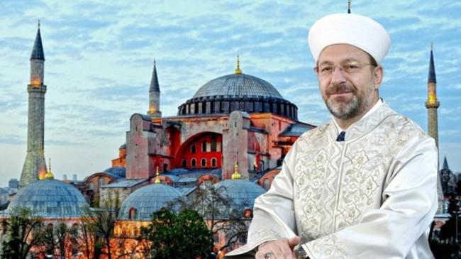 Son Dakika: Diyanet İşleri Başkanı, Ayasofya Camii'ne atanan 3 imam ve 5 müezzini açıkladı