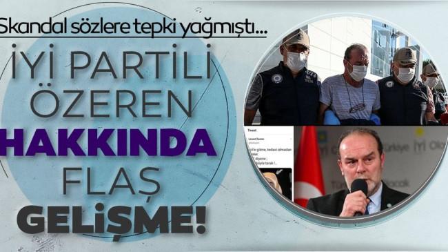 Son dakika… Bursa'da gözaltına alınan İYİ Partili Levent Özeren tutuklandı