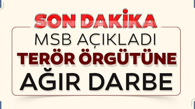 Terör örgütüne darbe! 8 PKK'lı terörist etkisiz