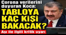 Sağlık Bakanı Fahrettin Koca'dan aşı uyarısı