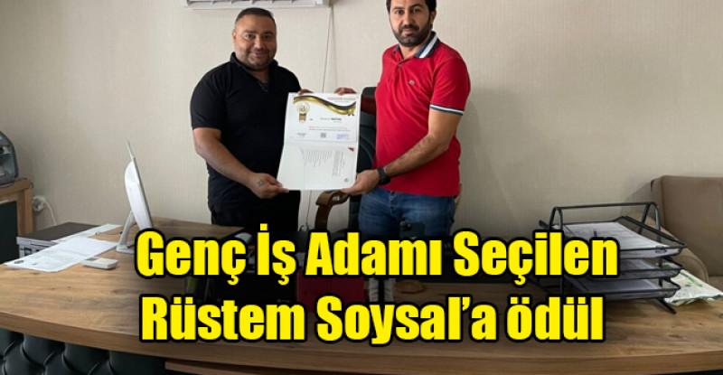 Güneydoğu'nun Başarılı Genç İş Adamı Seçilen Rüstem Soysal'a ödül