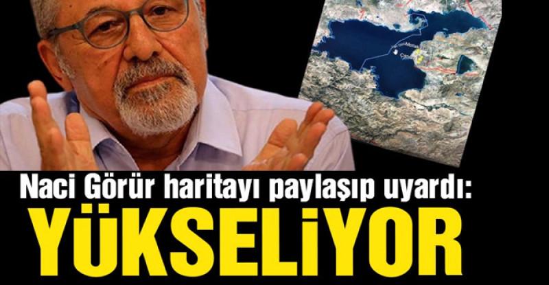 Prof. Dr. Naci Görür haritayı paylaşıp uyardı