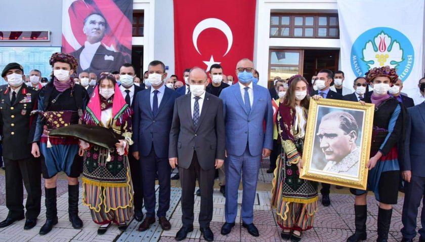 Atatürk'ün Manisa'ya Gelişinin 95. Yıl Dönümü Törenle Kutlandı